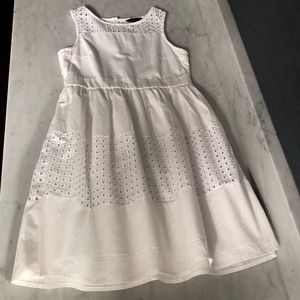 Girls White Nautica white sleeveless dress size 10